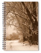 Winter Country Road Spiral Notebook