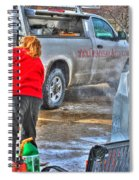 Winter Fest Ice Sculpting Spiral Notebook