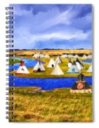 Winter Gathering Place Spiral Notebook