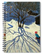 Winter Hillside Morzine France Spiral Notebook