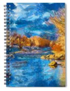 Winter In Salida -- Renoir Spiral Notebook
