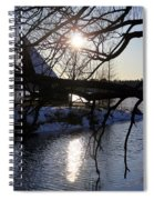 Winter Lake Spiral Notebook