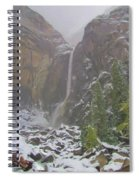Winter Lower Yosemite Falls Spiral Notebook