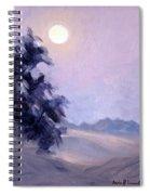 Winter Moonrise Spiral Notebook