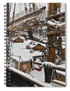 Winter On Deck Spiral Notebook