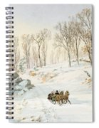 Winter On Ravensdale Road Spiral Notebook