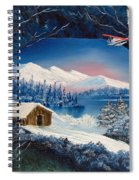 Winter Retreat Spiral Notebook