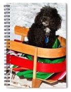 Winter Ride Spiral Notebook