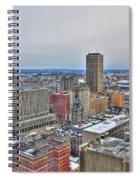 Winter Scene Downtown Buffalo Spiral Notebook