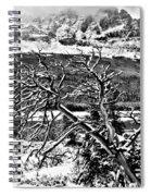 Winter Sets In Spiral Notebook