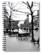 Winter Setting Sun Spiral Notebook
