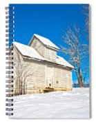 Winter Smoke House Spiral Notebook