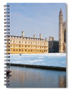 Winter Snow At Kings Spiral Notebook