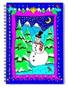 Winter Snowman Spiral Notebook