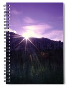 Winter Sun Winking Over The Mountains Spiral Notebook
