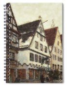 Winterly Old Town Spiral Notebook