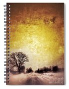 Wintery Road Sunrise Spiral Notebook