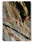 Wired Fence Post Spiral Notebook