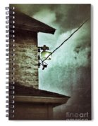 Wires On House In Storm Spiral Notebook