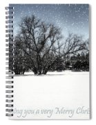 Wishing You A Very Merry Christmas Spiral Notebook