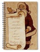 Wishlist For Santa Claus  Spiral Notebook