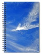 Wispy White Spiral Notebook