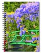 Wisteria And Japanese Bridge Spiral Notebook