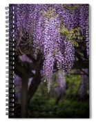Wisteria Droplets Spiral Notebook