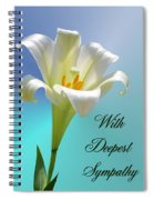 With Deepest Sympathy Spiral Notebook