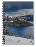 Wizard Island After Summer Snowfall Spiral Notebook