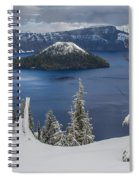 Wizard Island Through Trees Spiral Notebook