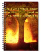 Wnter's Fire Spiral Notebook
