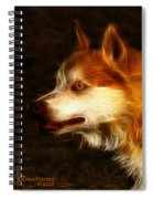 Wolf Or Husky - First Place Win In 'angry Dog Contest' Spiral Notebook