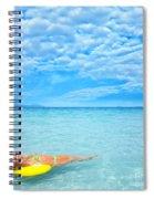 Woman And Ocean Spiral Notebook