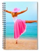 Woman Dancing Spiral Notebook