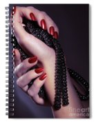 Woman Hands Holding Jewelry Spiral Notebook