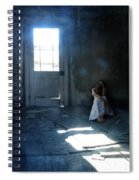 Woman Hiding In Abandoned Room Spiral Notebook