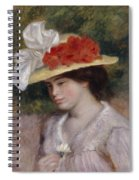 Woman In A Flowered Hat Spiral Notebook