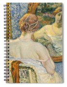 Woman In A Mirror Spiral Notebook