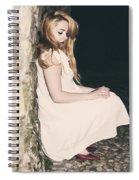 Woman In An Alley Spiral Notebook