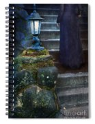 Woman In Dark Gown On Old Staircase Spiral Notebook