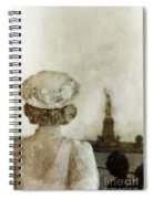 Woman In Hat Viewing The Statue Of Liberty  Spiral Notebook