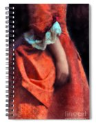 Woman In Red 18th Century Gown Spiral Notebook