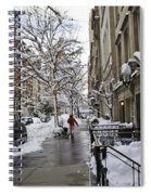 Woman In Striped Pajamas Spiral Notebook