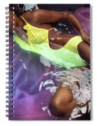 Woman In Swimsuit Lying In Water Spiral Notebook