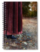 Woman In Vintage Clothing On Cobbled Street Spiral Notebook