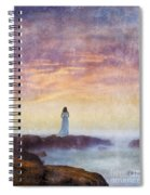 Woman In Vintage Dress At The Rocky Shore At Dawn Spiral Notebook
