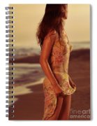 Woman In Wet Dress At The Beach Spiral Notebook