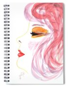 Woman Inner Trust Watercolor Painting Spiral Notebook