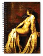 Woman Of The Night Spiral Notebook
